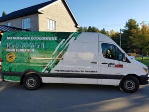 Rub-R-Wall Pour Foundation Truck